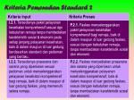kriteria pemenuhan standar d 2