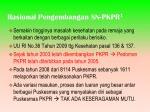 rasional pengembangan sn pkpr 1