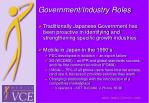 government industry roles