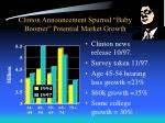 clinton announcement spurred baby boomer potential market growth