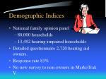 demographic indices