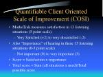 quantifiable client oriented scale of improvement cosi