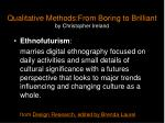 qualitative methods from boring to brilliant by christopher ireland12