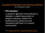 qualitative methods from boring to brilliant by christopher ireland7