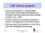 lse library projects