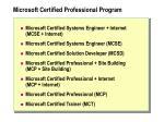 microsoft certified professional program