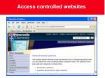 access controlled websites