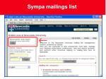 sympa mailings list