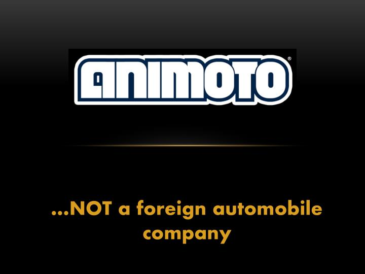 not a foreign automobile company n.