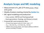 analysis scope and mc modeling