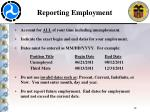 reporting employment1