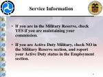 service information