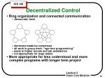 decentralized control
