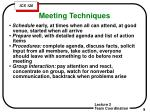 meeting techniques