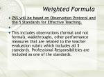 weighted formula