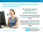 what information is available to help me make health care decisions