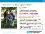 why will i like blue options hsa