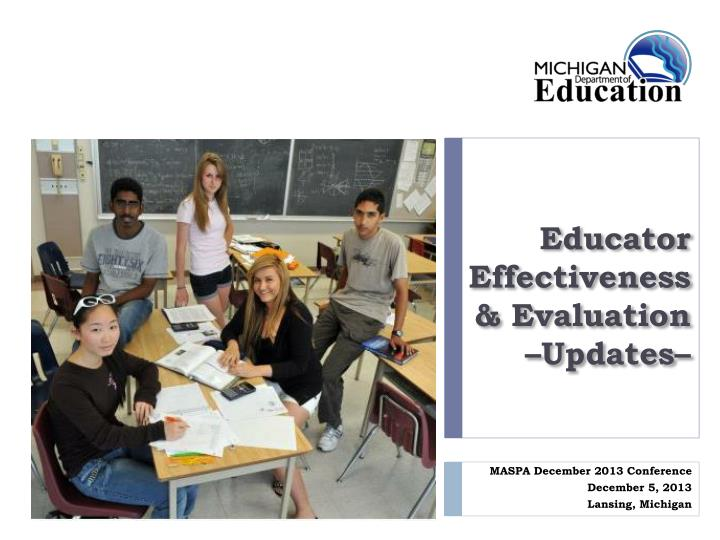 educator effectiveness evaluation updates n.