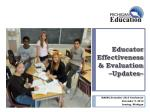 educator effectiveness evaluation updates