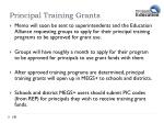 principal training grants