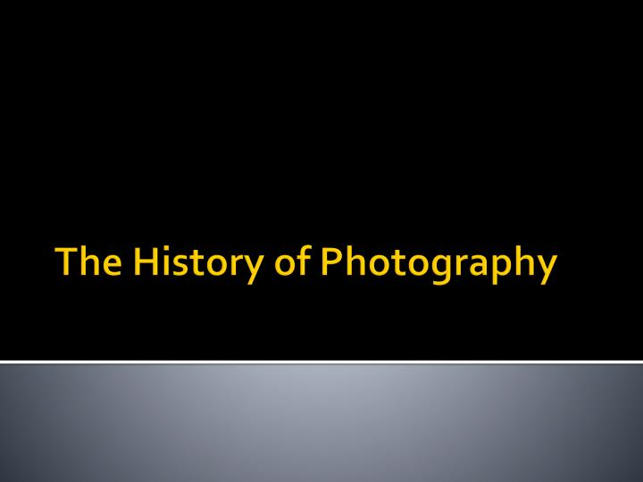 the history of photography n.