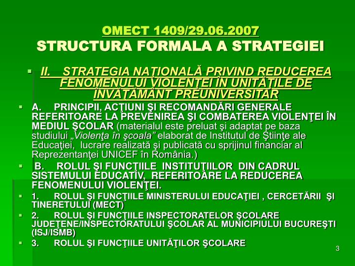 Omect 1409 29 06 2007 structura formala a strategiei1