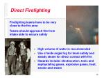 direct firefighting