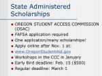 state administered scholarships