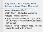 why not j d moore ford scholars amie wood memorial