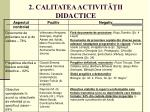 2 calitatea activit ii didactice