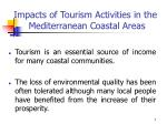 impacts of tourism activities in the mediterranean coastal areas