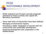 mcsd sustainable development