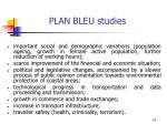 plan bleu studies