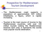 prospective for mediterranean tourism development