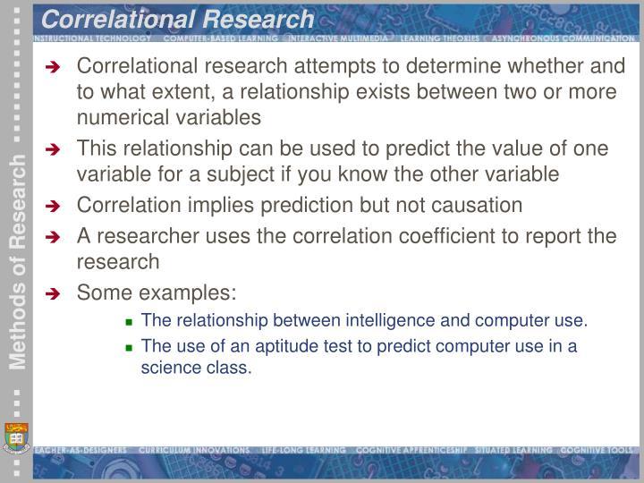 Correlational Research