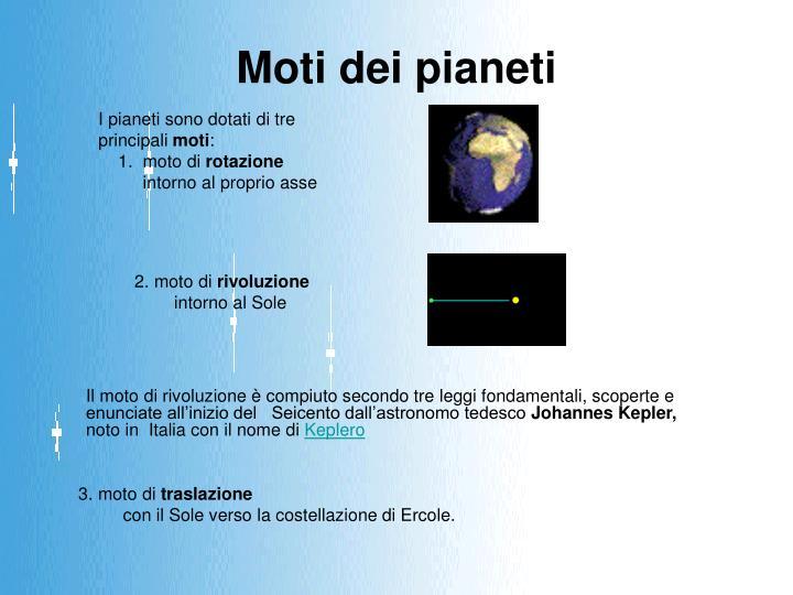 Moti dei pianeti
