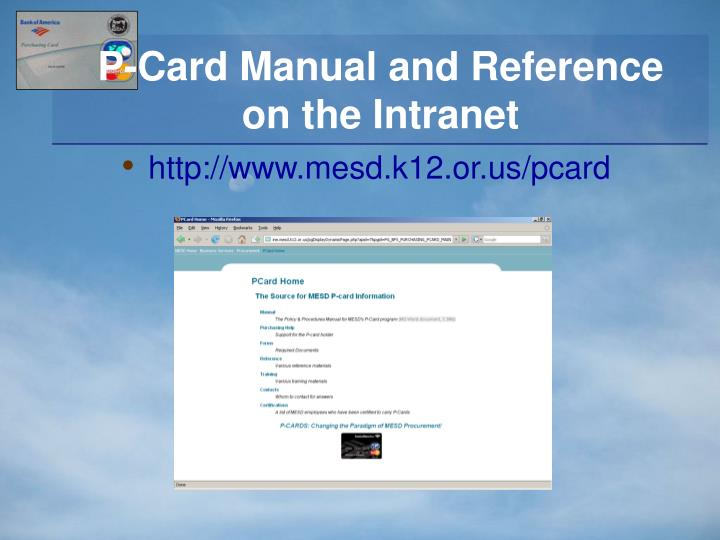 P-Card Manual and Reference