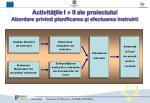 activit ile i ii ale proiectului abordare privind planificarea i efectuarea instruirii