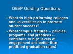 deep guiding questions