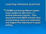learning intensive practices1