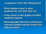 lessons from the research1