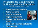 principles for good practice in undergraduate education chickering gamson 1987