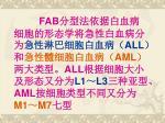 fab all aml all l1 l3 aml m1 m7