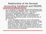 relationship of the revised accounting handbook and medms1