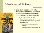 selecci sexual guinness