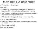 iii on aspire un certain respect1