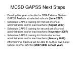 mcsd gapss next steps