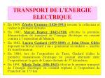 transport de l energie electrique