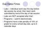 due dates times
