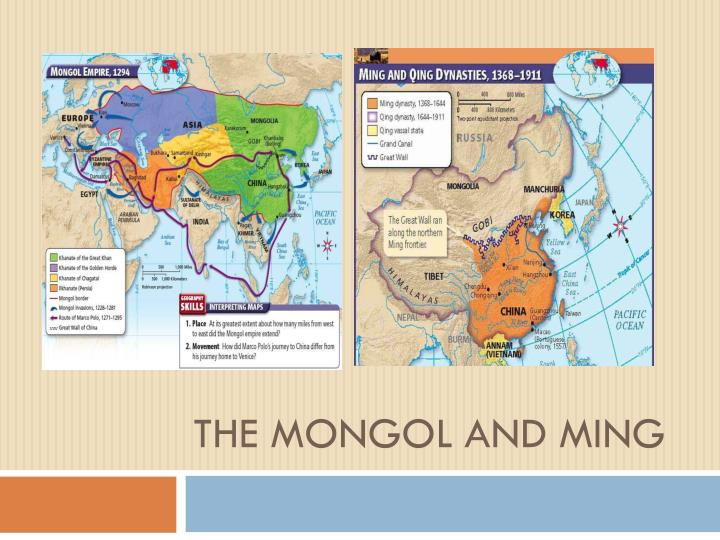 the mongol and ming n.